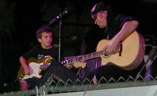 Above: Dick & Jimmy Dale play together that night nearly a decade ago.