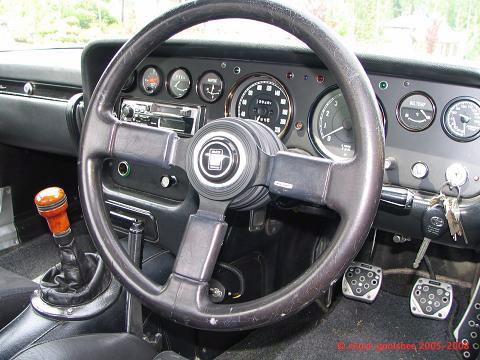 Interior of a Mazda Cosmo
