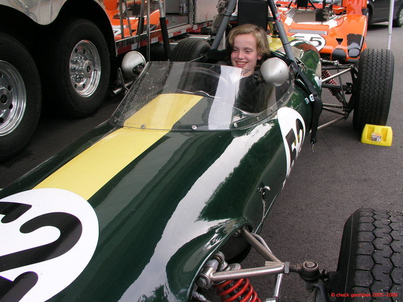 Age 14. Sitting in Philippe Reyns racecar at the Northwest Historics in 2008.