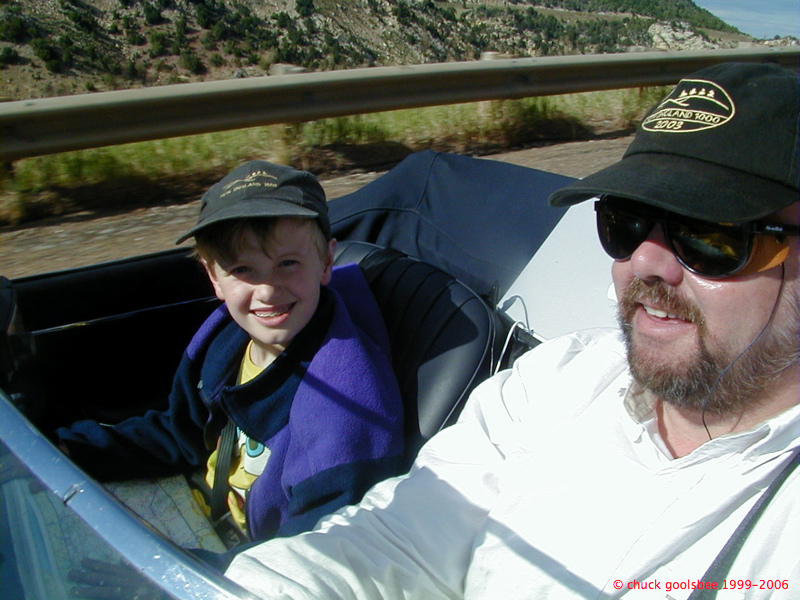 Age 9. Navigating for me on our 2003 trip with the 65E from Colorado to home.