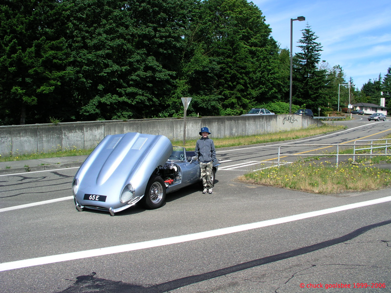 Age 11. Standing by the broken 65E when we were going to the Northwest Historics in 2005.