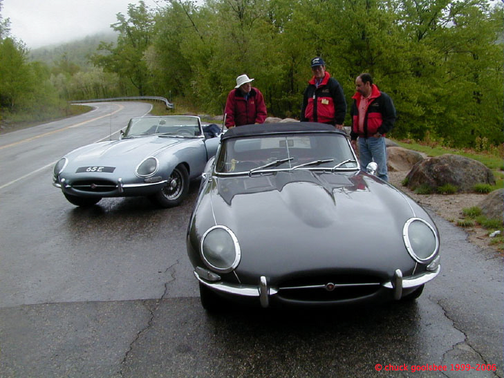 Two E-types at the New England 2000